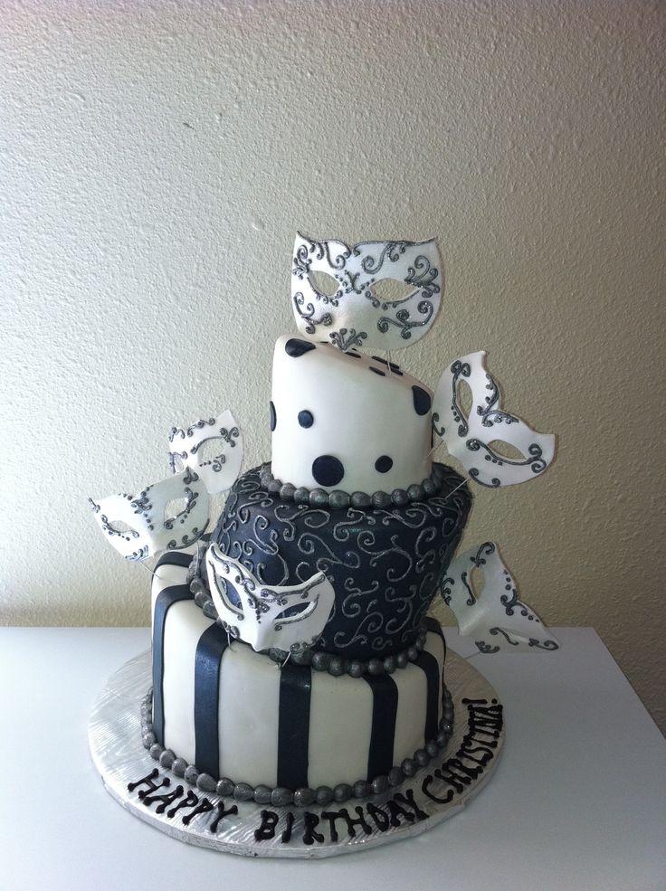 masquerade cake designs
