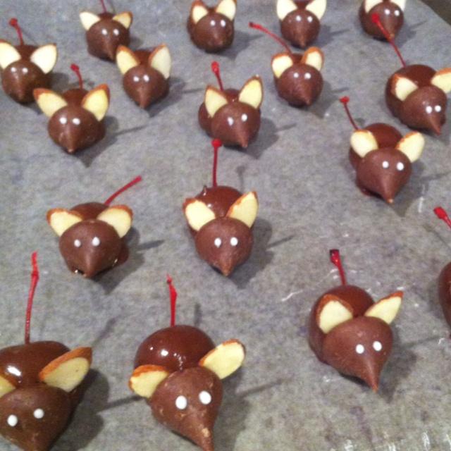 Chocolate cherry mice | Favorite Recipes | Pinterest