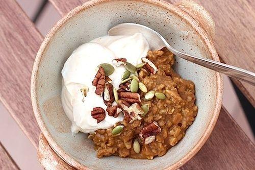 Pumpkin Gingerbread Spice Oatmeal | Staying Healthy: Breakfast | Pint ...