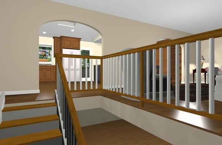 remodeling design options for a bi level home