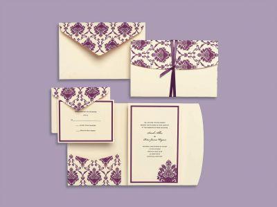 Michaels com wedding department brides 174 purple and ivory elegant
