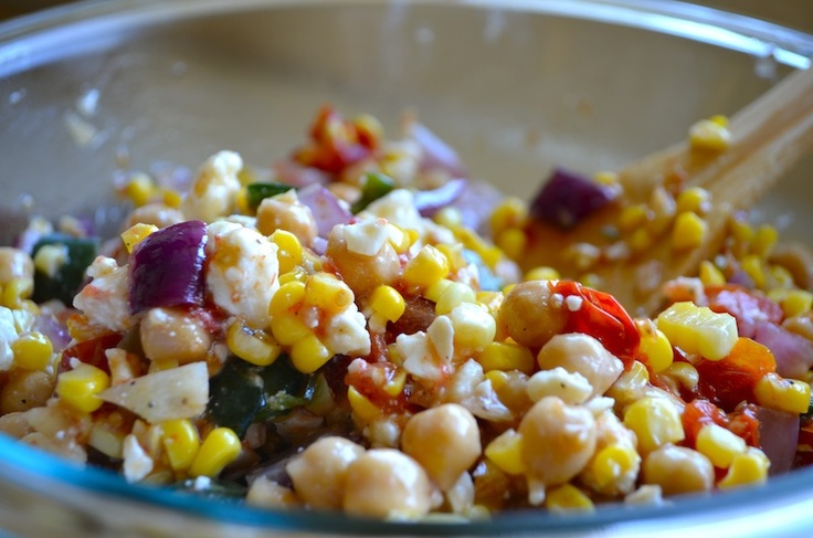 Chickpea & Roasted Vegetable Salad by Rachel Schultz