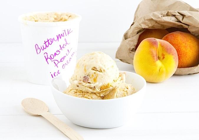 Roasted Peach Buttermilk Ice Cream   Recipes for a Rainy Day   Pinter ...