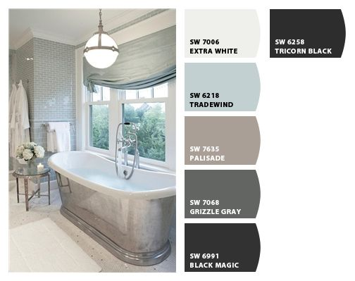 Master Bathroom Color Palette For The Home Pinterest