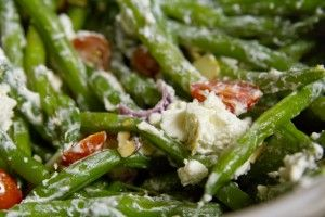 green beans with goat cheese. | allison | Pinterest