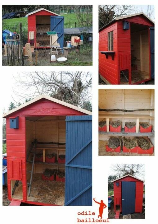 cabane de jardin poulailler poulailler pinterest. Black Bedroom Furniture Sets. Home Design Ideas