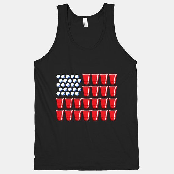 Beer Pong Flag (Tank) on Etsy, $29.00