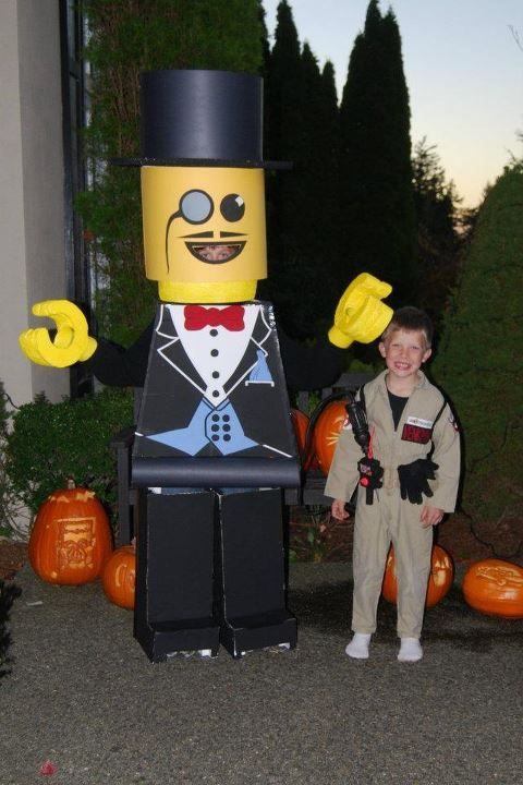 how to make a lego man costume youtube