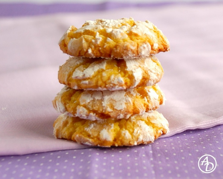Lemon Crinkle Cookies - quick and easy recipe using lemon cake mix and ...