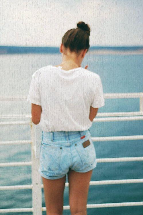little jean shorts #planetblue