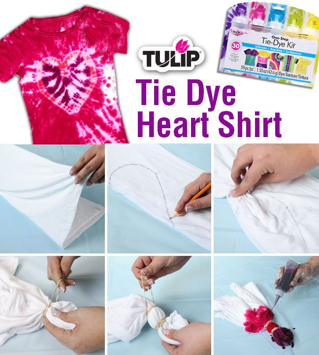Tie dye heart shirt in 6 easy steps tie dye diy crafts for Making a tie dye shirt