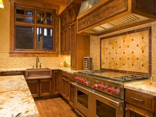 Custom Home Built By Cameo Homes In Utah Kitchen By Highline Cabinets