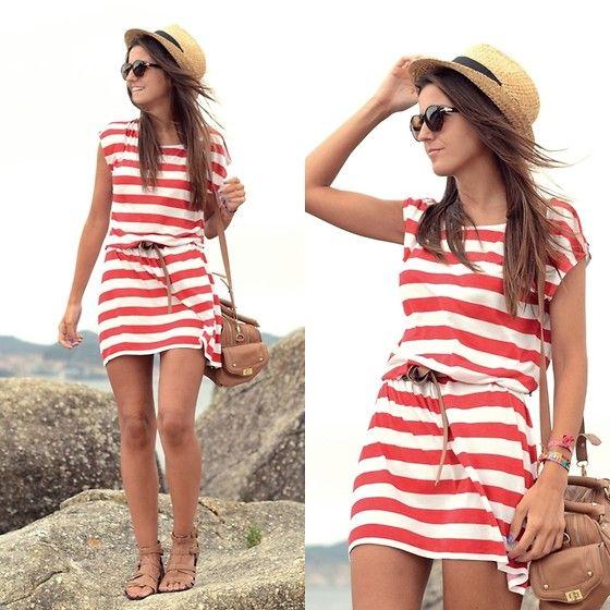 Loving this striped dress.