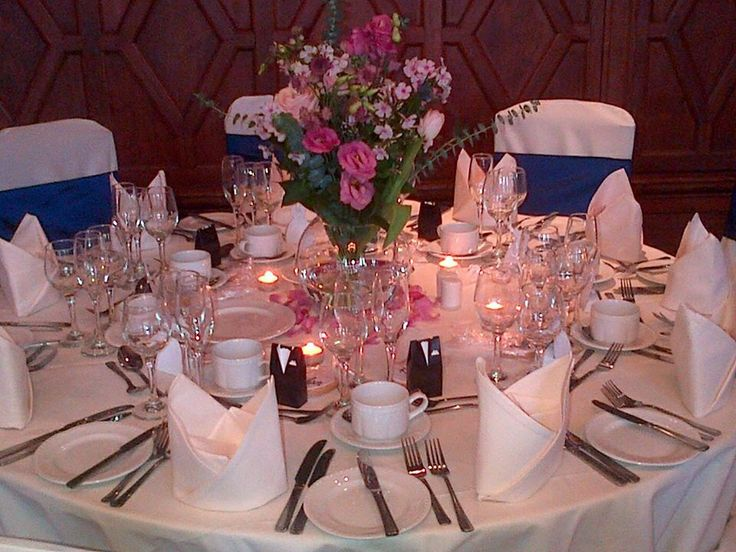 Table Setting Wedding Navy Blue Wedding Pinterest