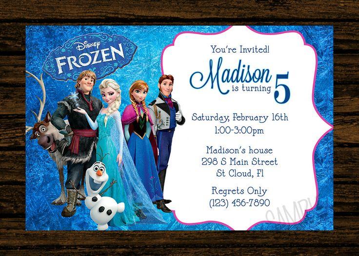 8eb7c676a0fcaccd1e176d3e9a2a02a4 Frozen Birthday Party Invitation ...
