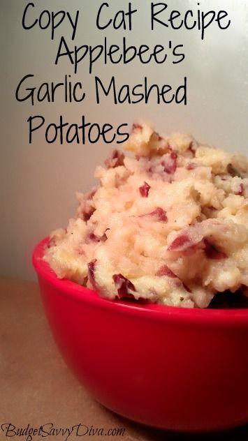 Copy Cat Recipe – Applebee's Garlic Mashed Potatoes