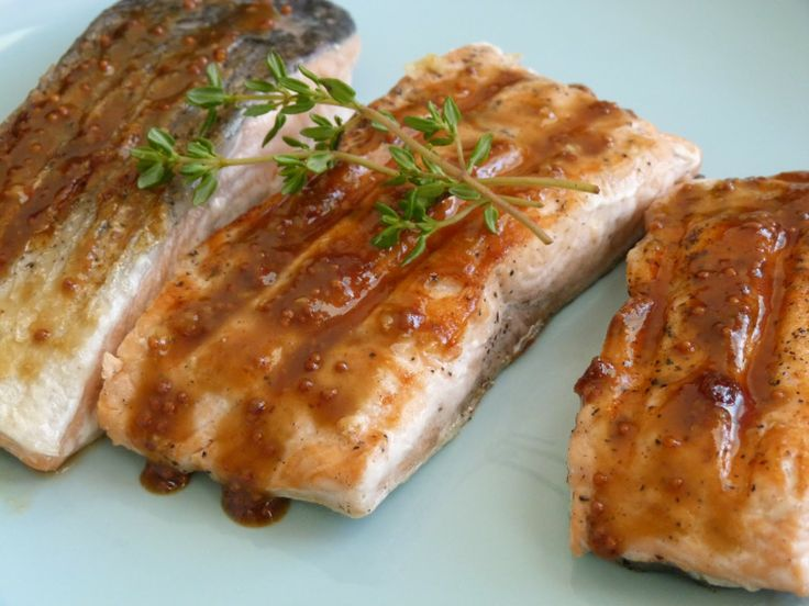 Obsessive Cooking Disorder: Salmon with Brown Sugar and Mustard Glaze