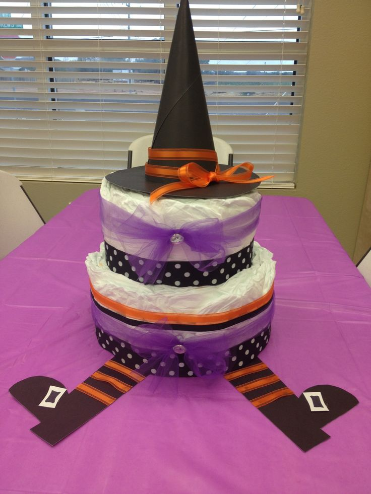 halloween baby shower diaper cake shante 39 s baby shower pinterest