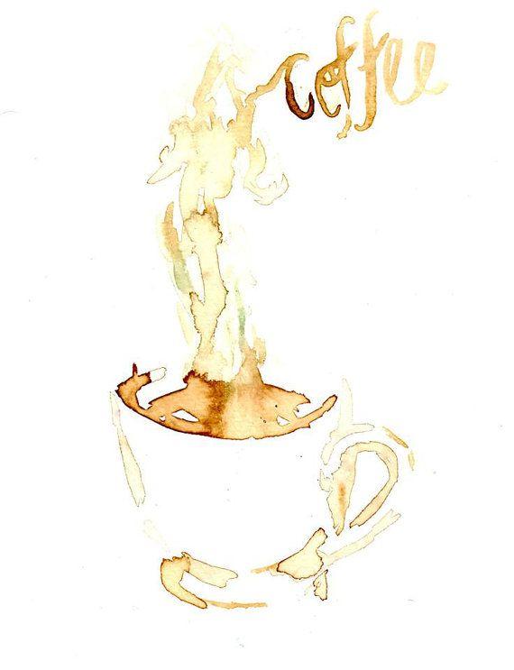 Coffee by jessica buhman print of original coffee for Coffee watercolor