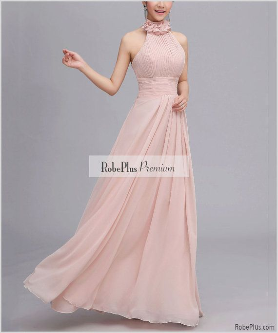 Dusty rose pink bridesmaid dress pink maxi dress for Rose pink wedding dress