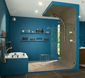 Douche italienne ce qui fait battre mon coeur pinterest - Idee deco douche italienne ...