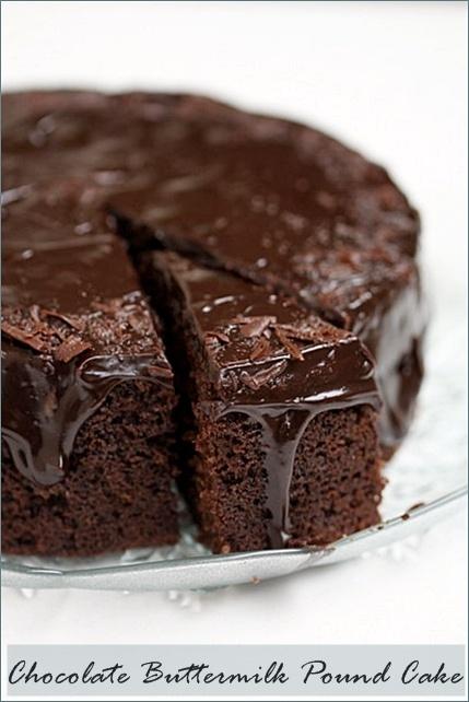 Chocolate Buttermilk Pound Cake... | Chocolateღღღ | Pinterest
