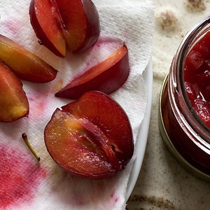 Rosewater Plum Compote from @Heidi Swanson is perfect for you next ...