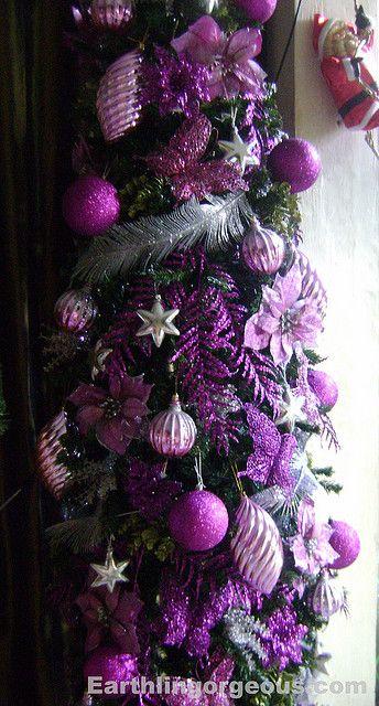 Purple Christmas Tree Beautiful Christmas Trees Pinterest