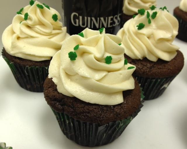 Cupcakes filled w/Baileys Irish Cream Ganache and Baileys Buttercream ...