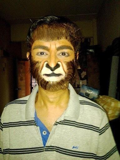 Monkey face makeup - photo#18