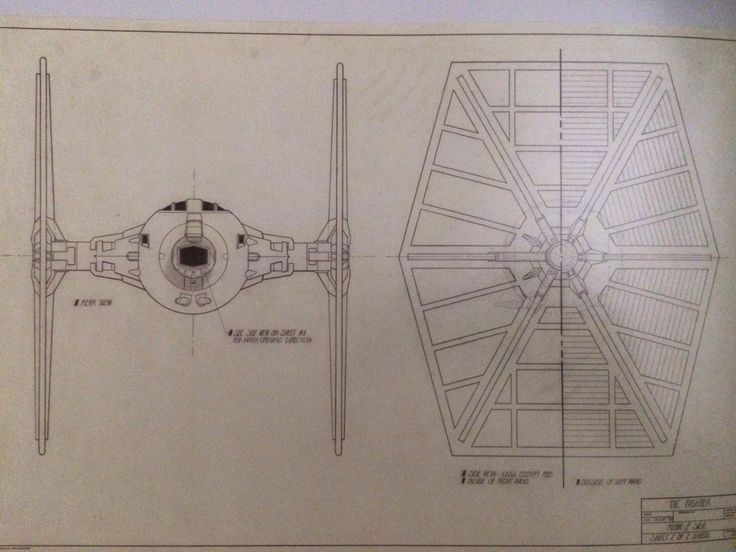 pin tie fighter blueprints on