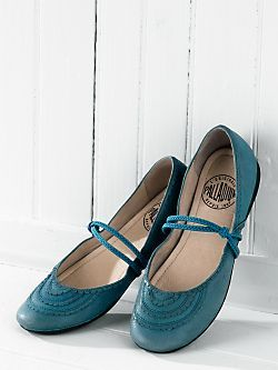 Teal shoes are cute.