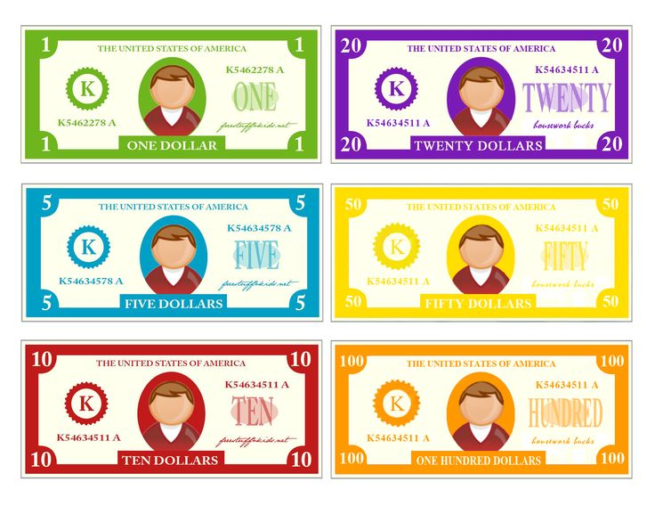 Play Money Template Photoshop play money — crafthubs