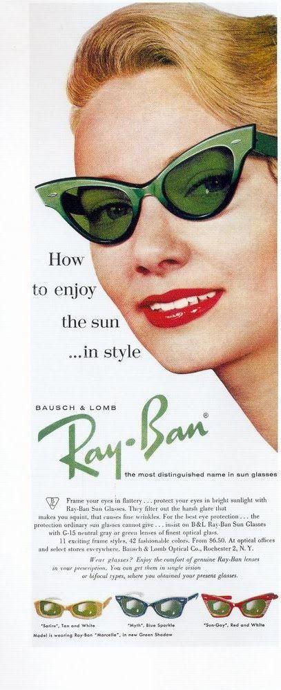 Vintage Sunglasses Advertisement