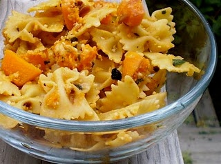 Pasta with Butternut Squash, Sage, and Pine Nuts.
