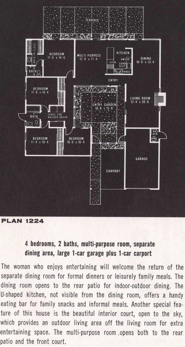 Eichler Floor Plan 1224 Eichler Homes Pinterest