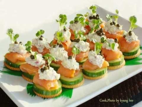 smoke salmon canape.wmv - YouTube | special recipes !)))) | Pintere ...