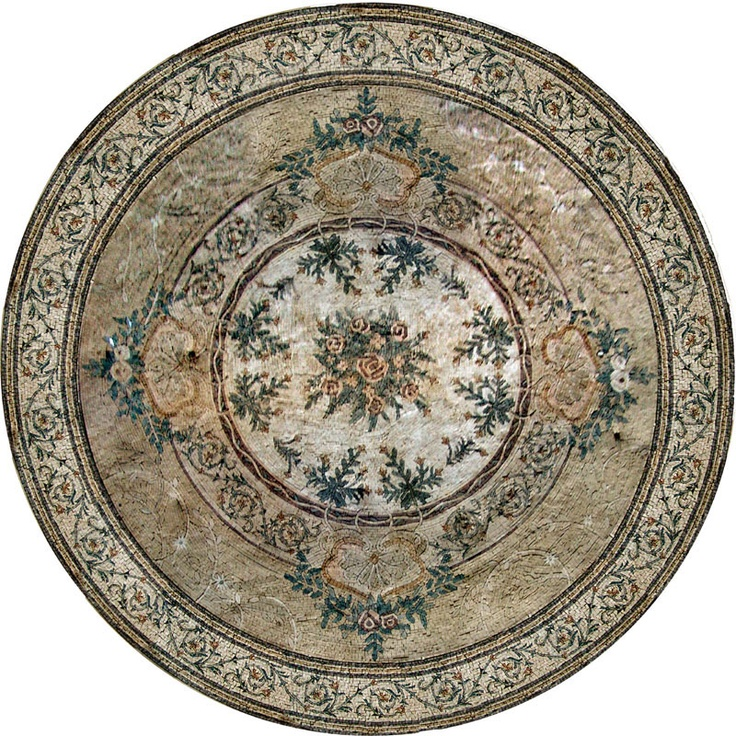 Medallion Mosaic Pattern Tile Art Stone Floor Tabletop EBay
