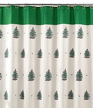 Single Stall Shower Curtain Christmas Santa Shower Curtain