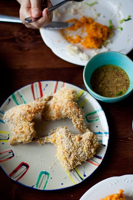Panko-Crusted Chicken with Mustard Sauce | Poultry | Pinterest