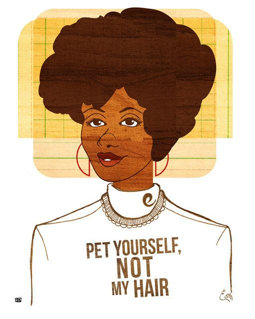 28 problems only people with afros understand.  Top of the list stop touching and petting people's afros.