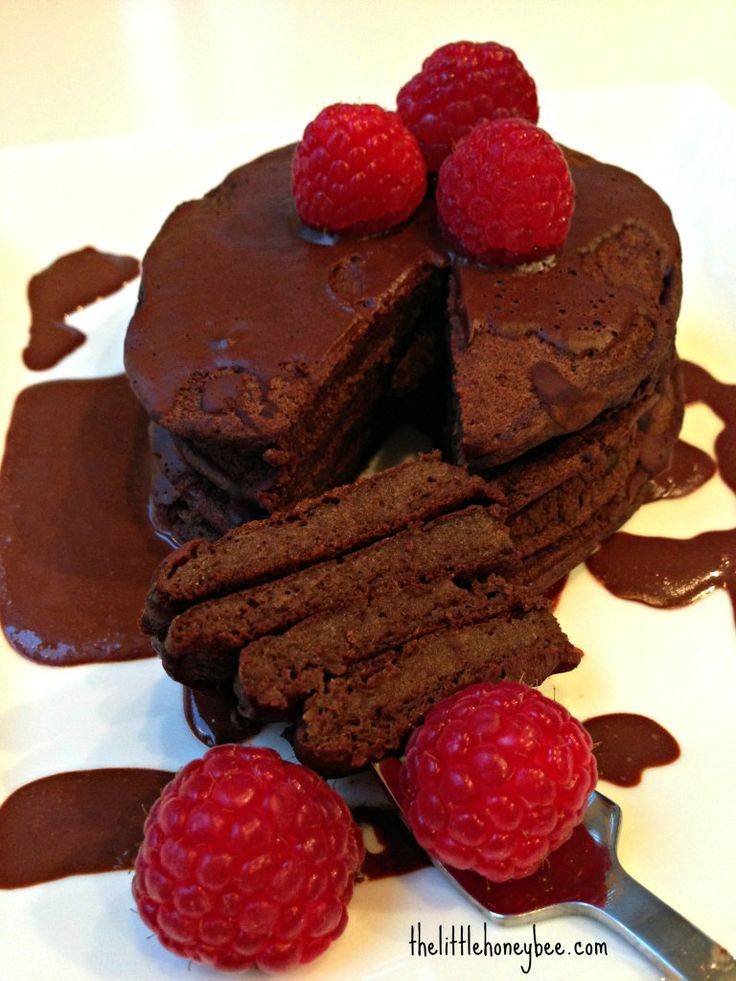 Brownie Batter Pancakes | food for the morning:) | Pinterest
