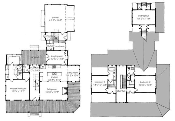 farmhouse revival southern living house plan cute floor plan