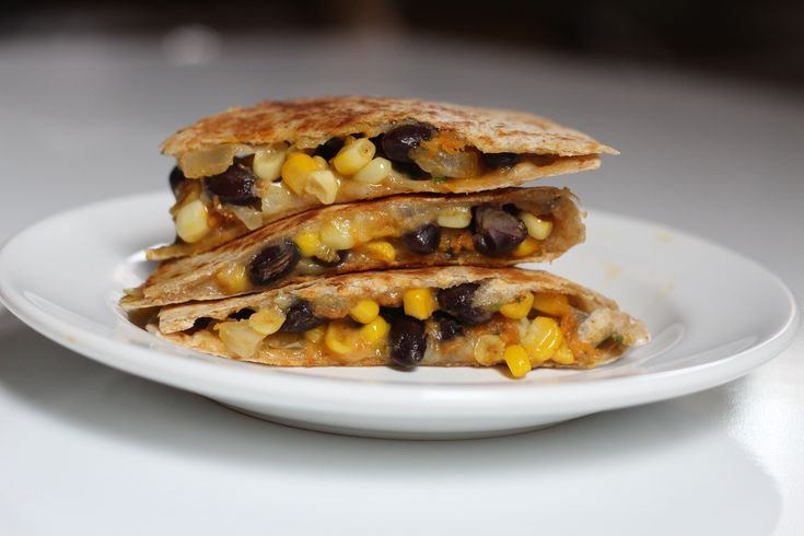 Spicy Corn And Black Bean Quesadillas | Vegetarian Main Dishes | Pint ...