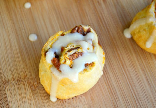 Pumpkin Cinnamon Rolls with Maple Cream Cheese Icing Recipe