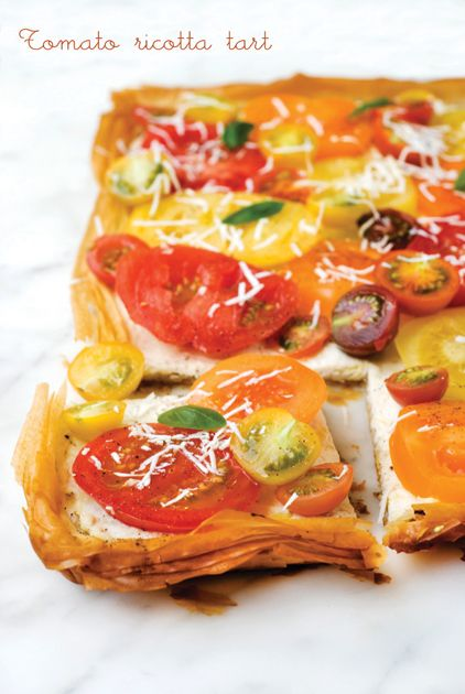 Tomato-and-Ricotta-Tart | recipe | Pinterest