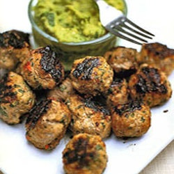 Spiced Pork Meatballs with Guacamole | Paleo | Pinterest