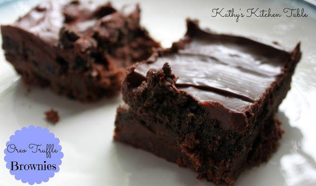 Oreo Truffle Brownies | y u m | Pinterest