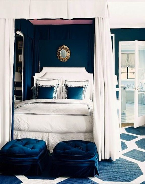 Navy Blue Bedroom Enchanting With Royal Blue and White Bedroom Images