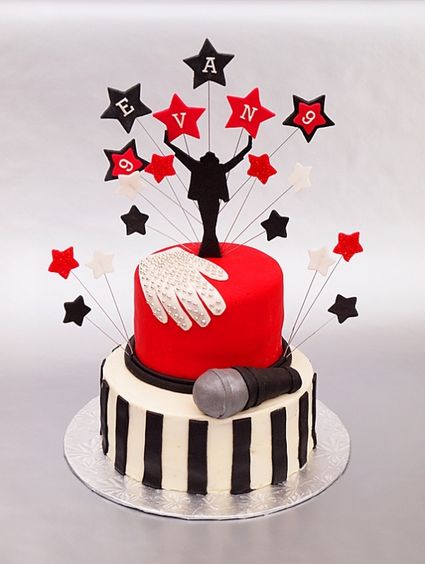 Michael Jackson cake - this is awesome, if only I would have seen this before the wedding!  :)